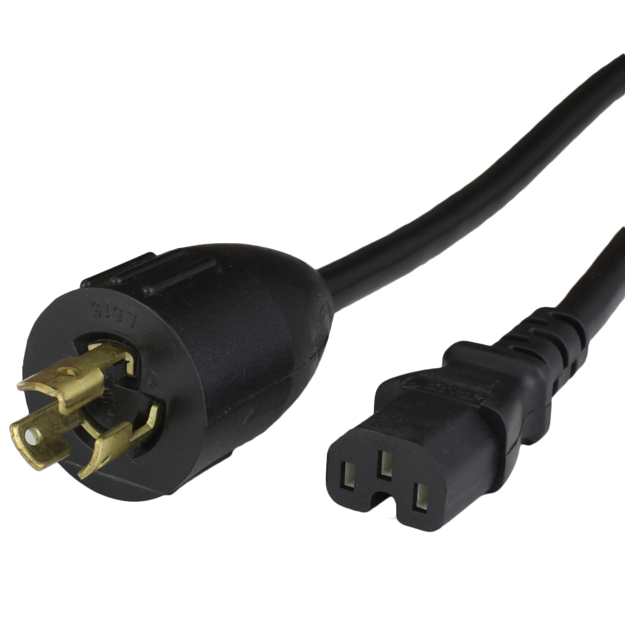 NEMA L5-15P to IEC60320 C15 Power Cords