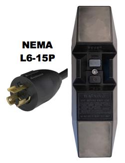 NEMA L6-15P GFCI Power Cords