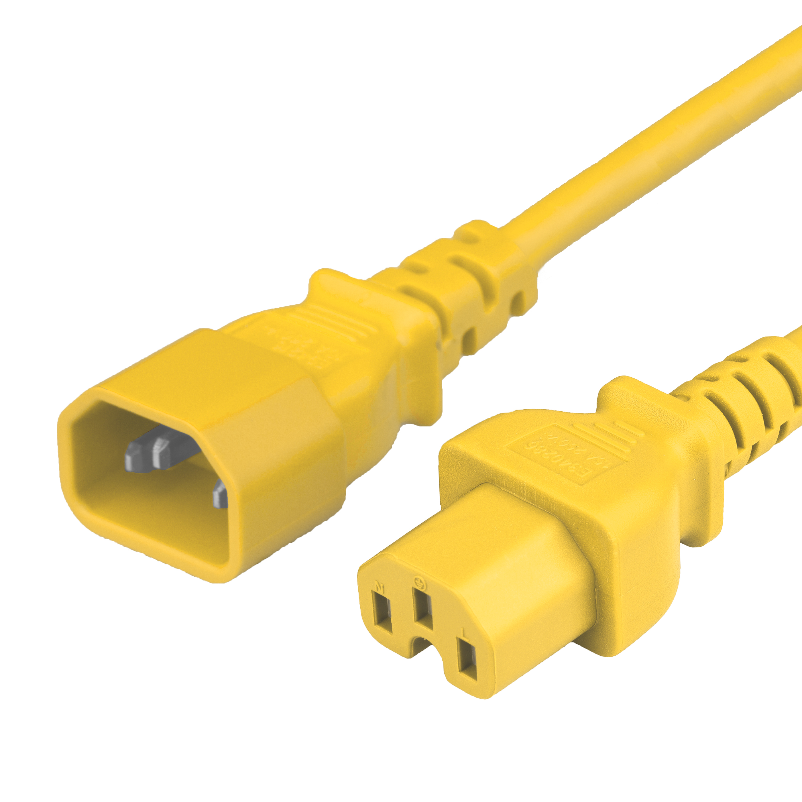 15FT C15 C14 15A 250V 14/3 SJT YELLOW Power Cord