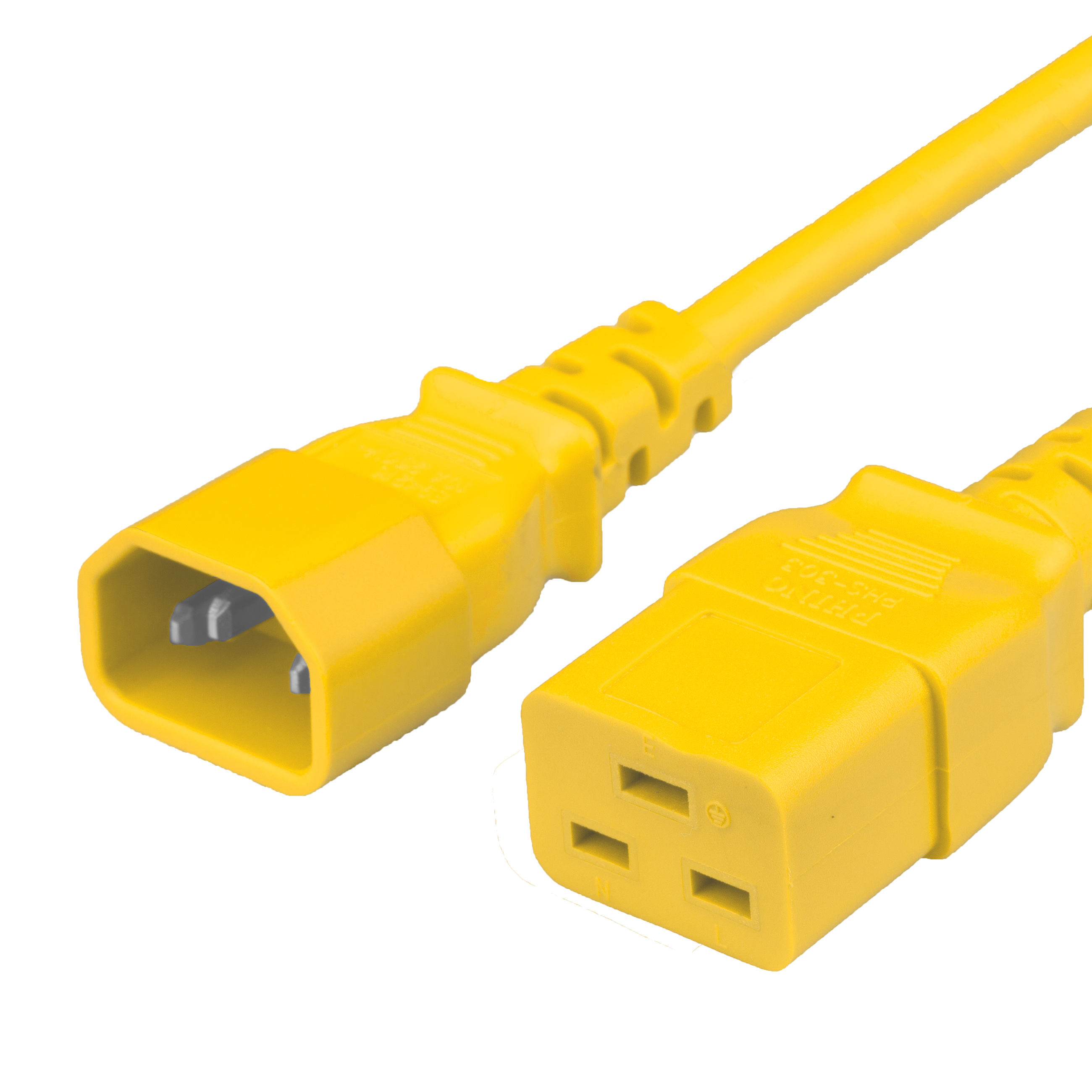 Yellow 15A C14 C19 Power Cords