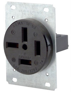 >NEMA 18-50R Wall Outlet