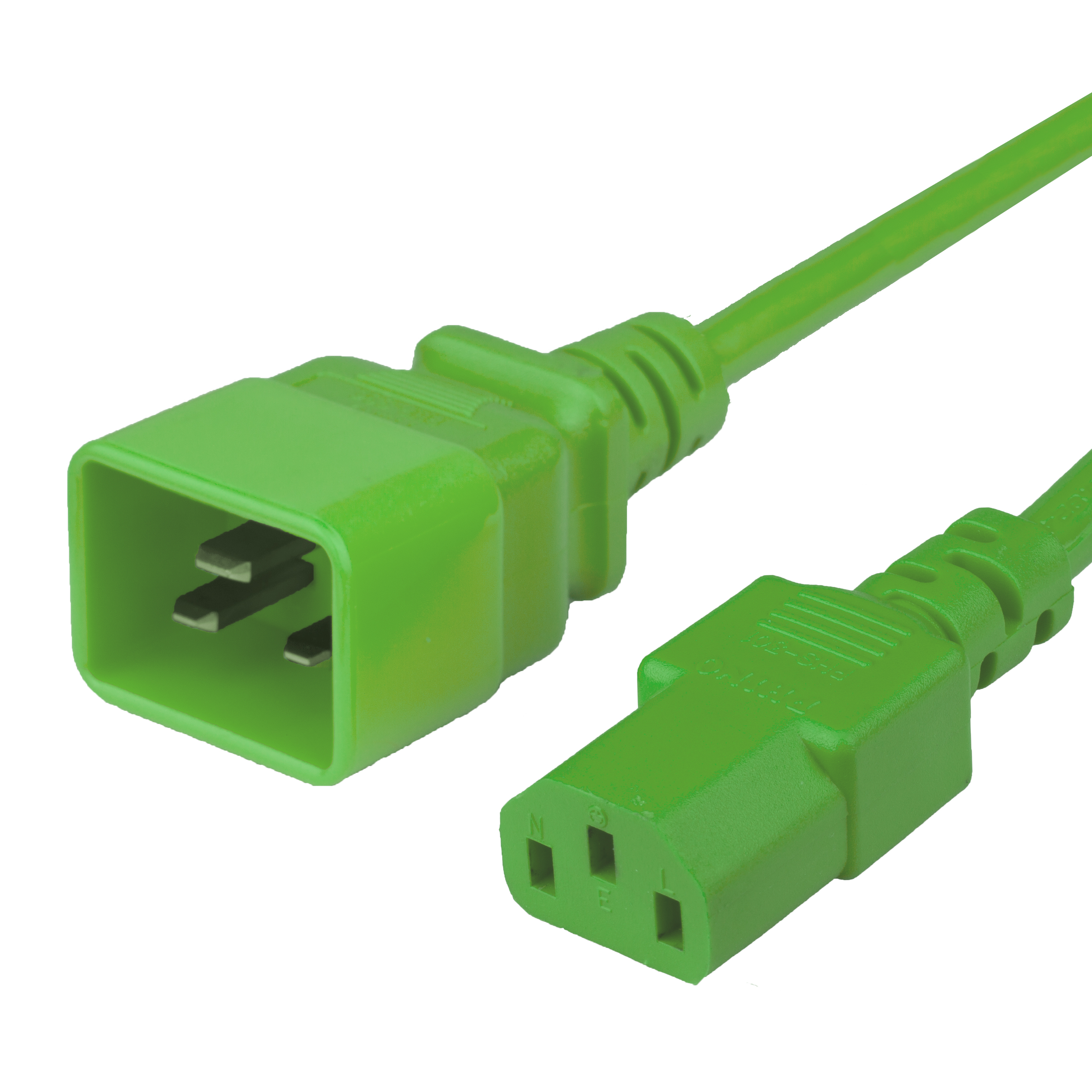 1FT C20 C13 15A 250V GREEN Power Cord