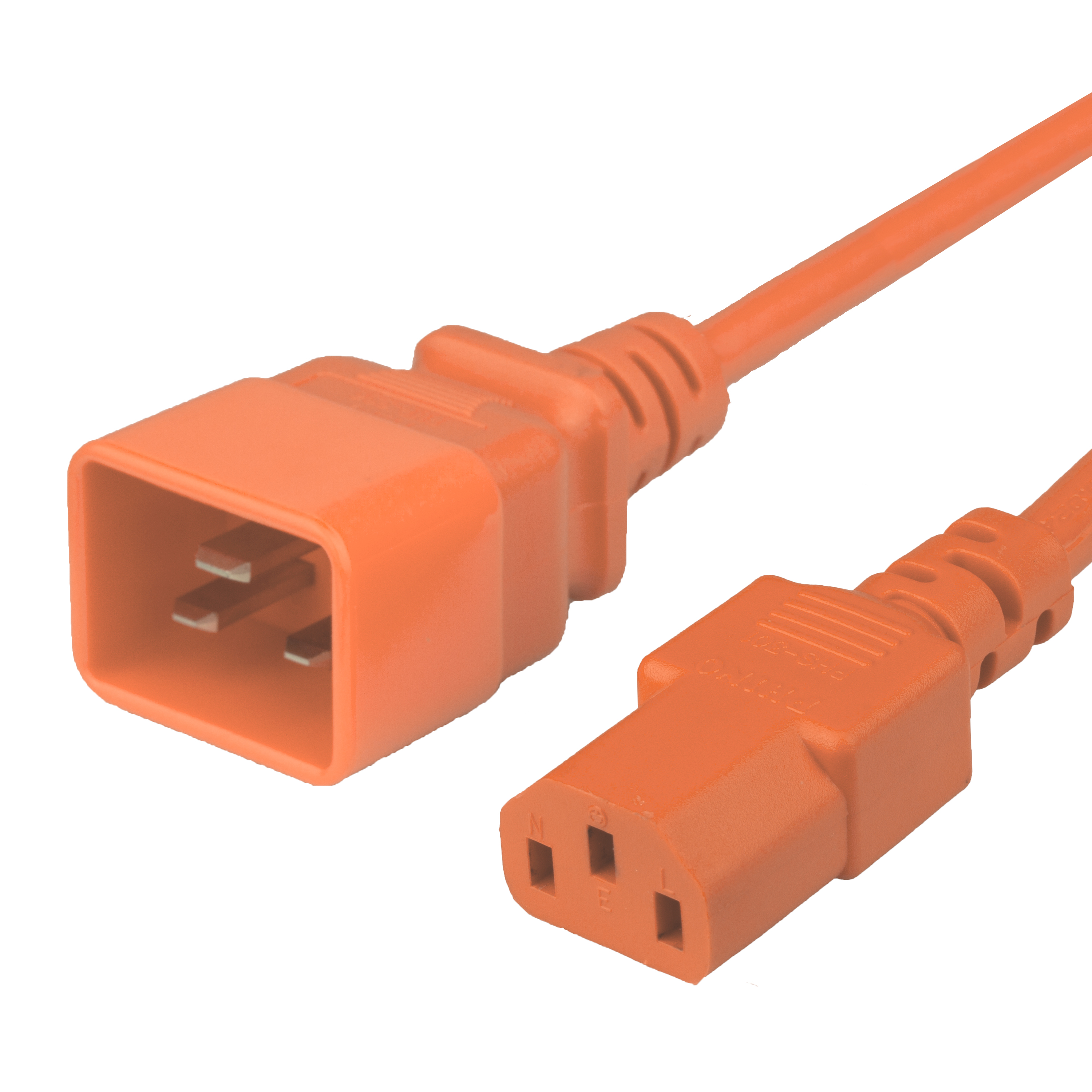 4FT C20 C13 15A 250V ORANGE Power Cord