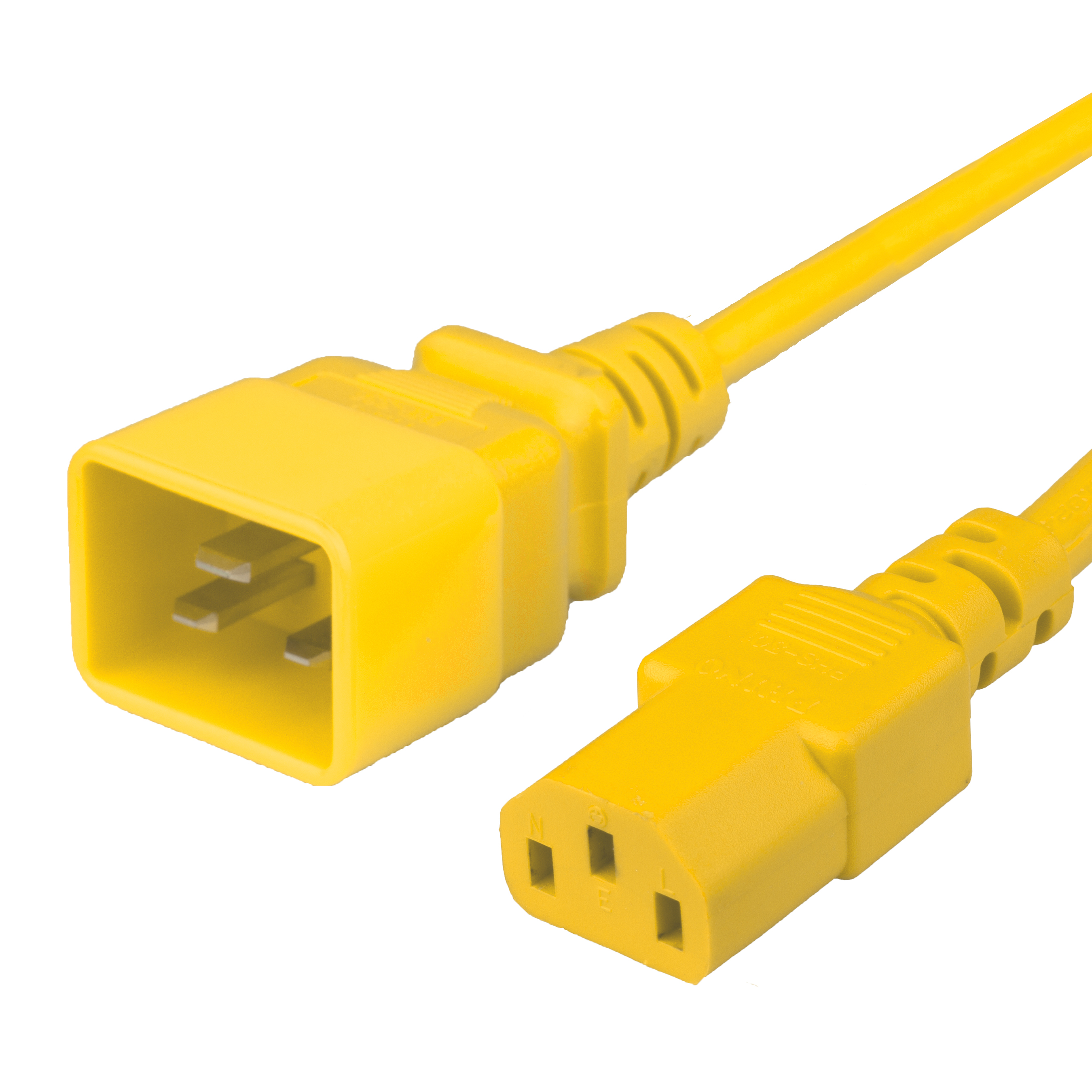 15FT C13 C20 15A 250V YELLOW Power Cord