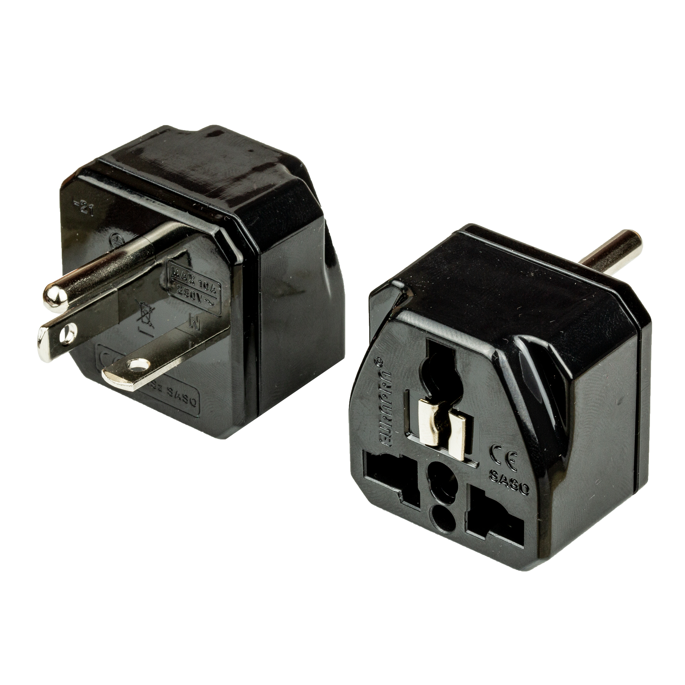 Adapter NEMA 6-20P to Universal 20A 250V BLACK