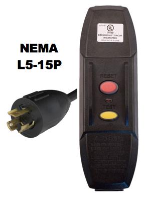 NEMA L5-15P GFCI Power Cords