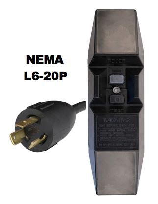 NEMA L6-20P GFCI Power Cords