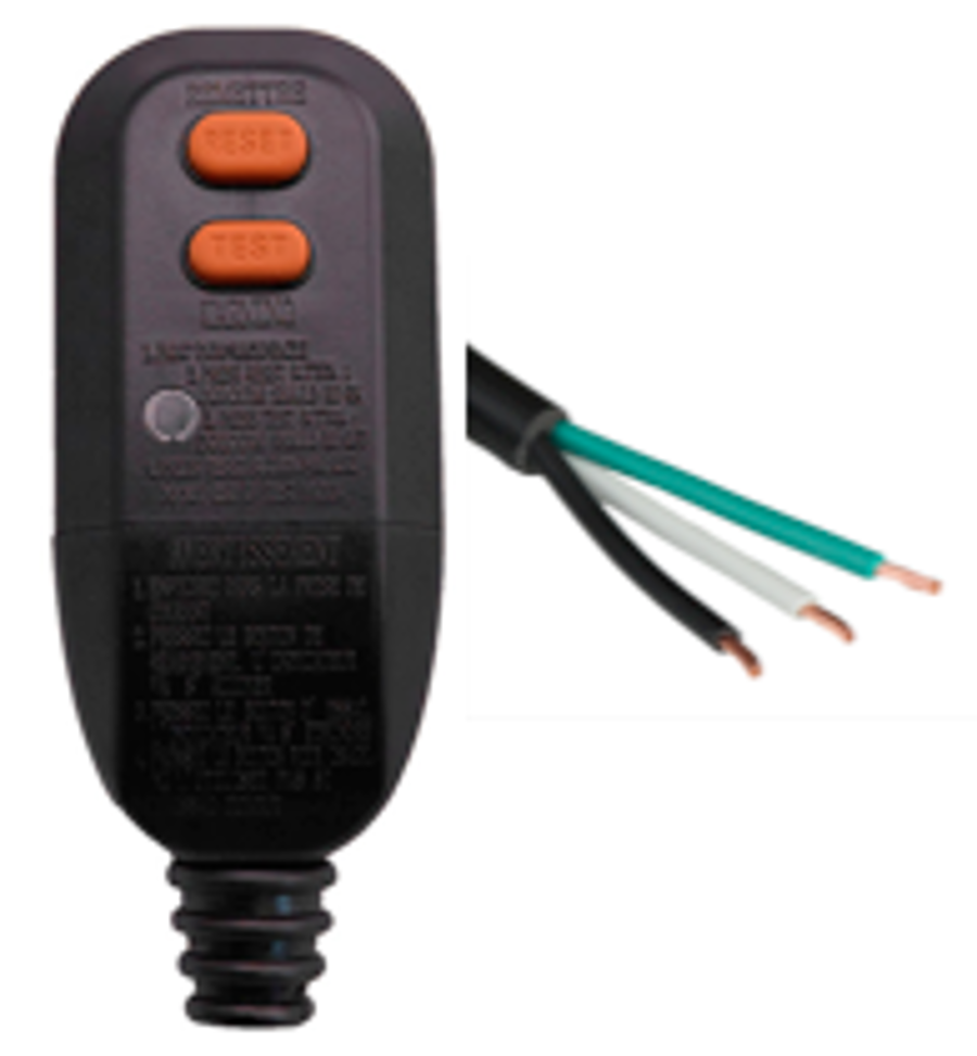AUTOMATIC RESET - Plug Head Style - NEMA 5-15P to OPEN GFCI Power Cord