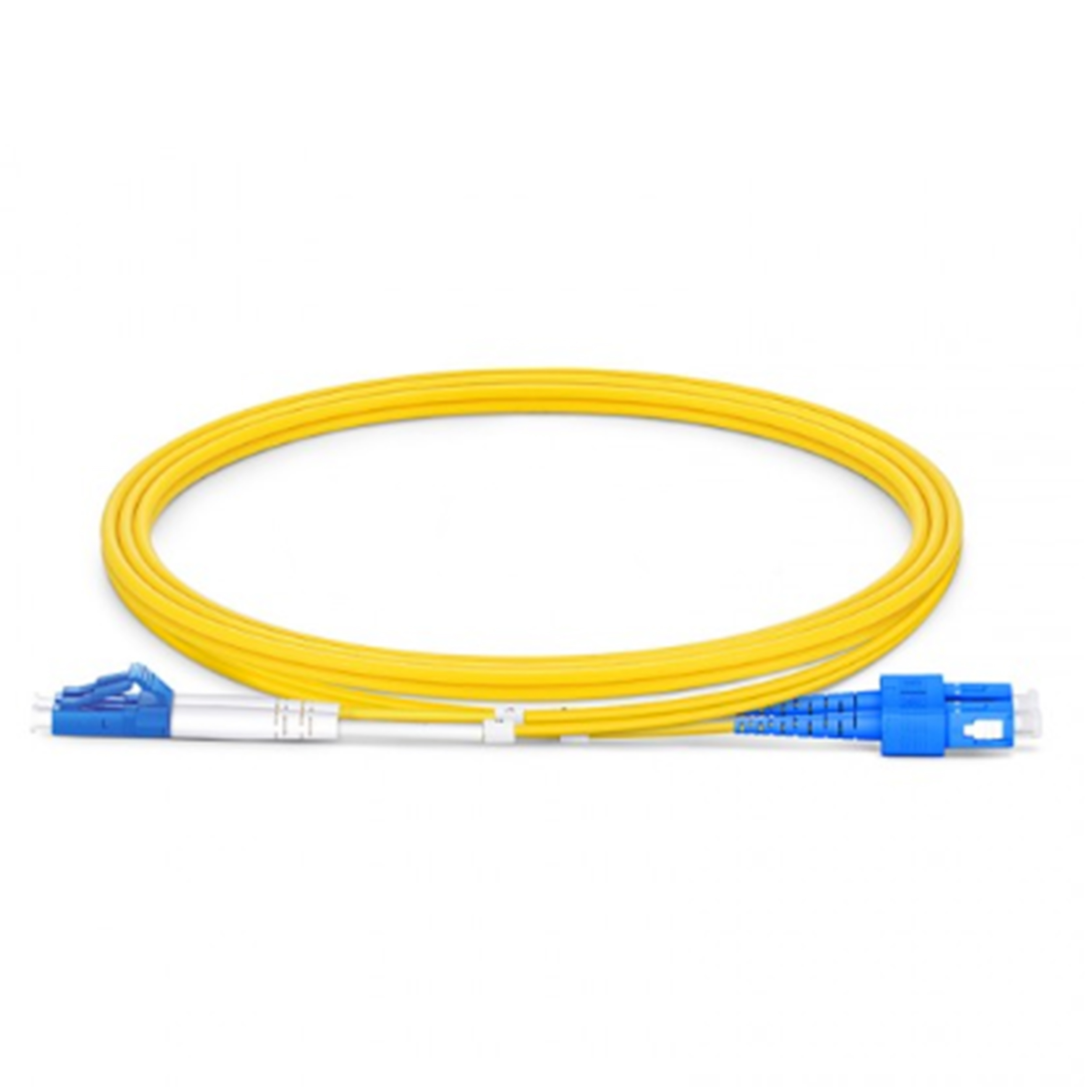 OS2 LC-SC Duplex UPC Fiber Optic Cable (16ft) 5M Yellow