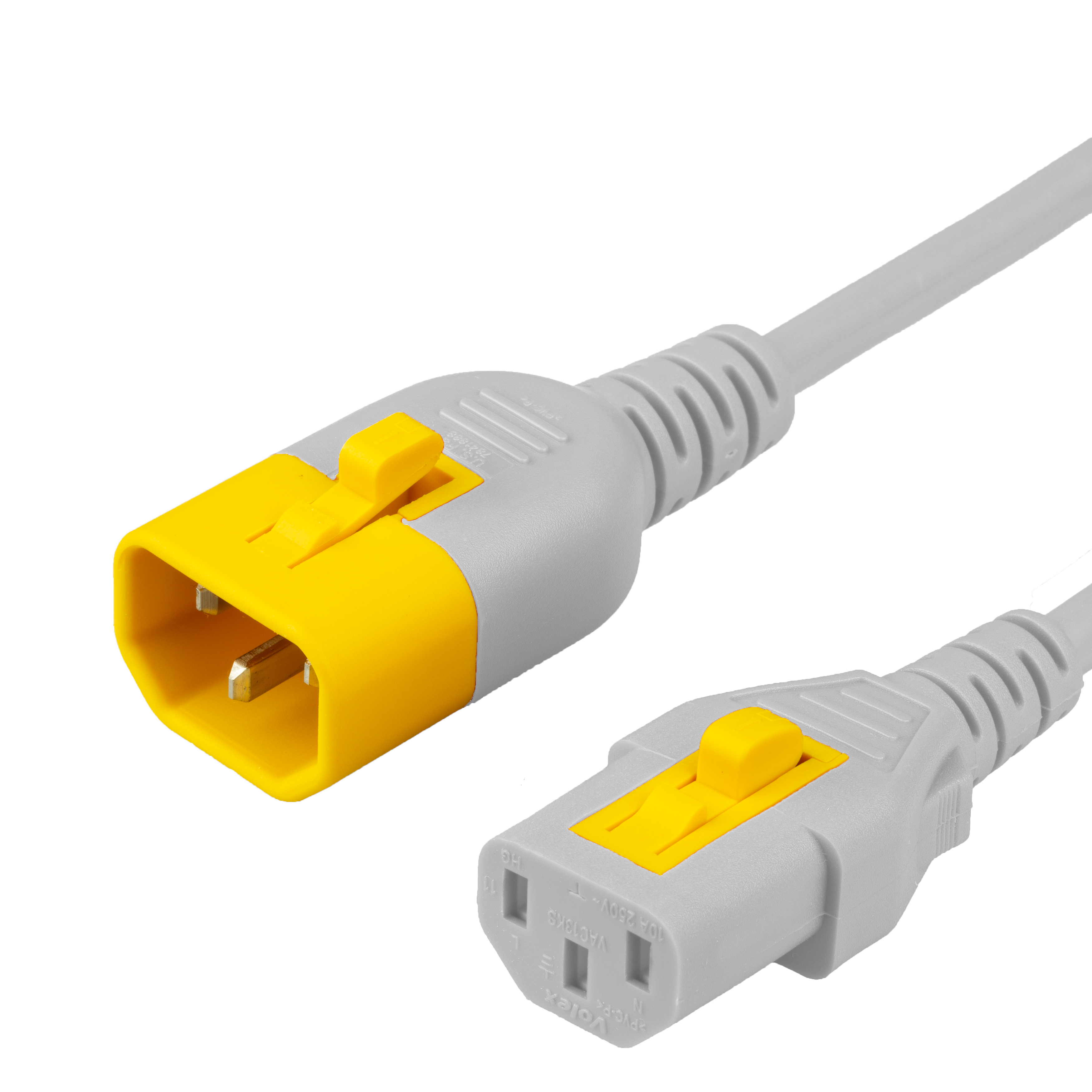 3FT C13 C14 V-LOCK 10A 250V WHITE Power Cord