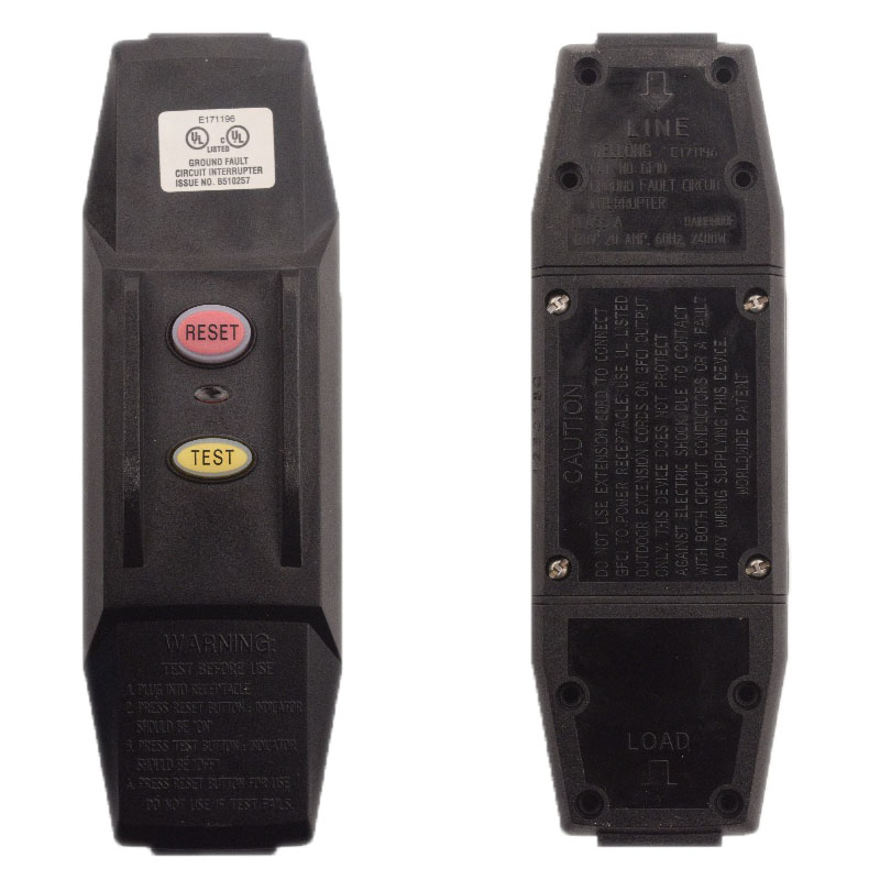 Photo of 10 Amp Manual Reset User Attachable Inline GFCI