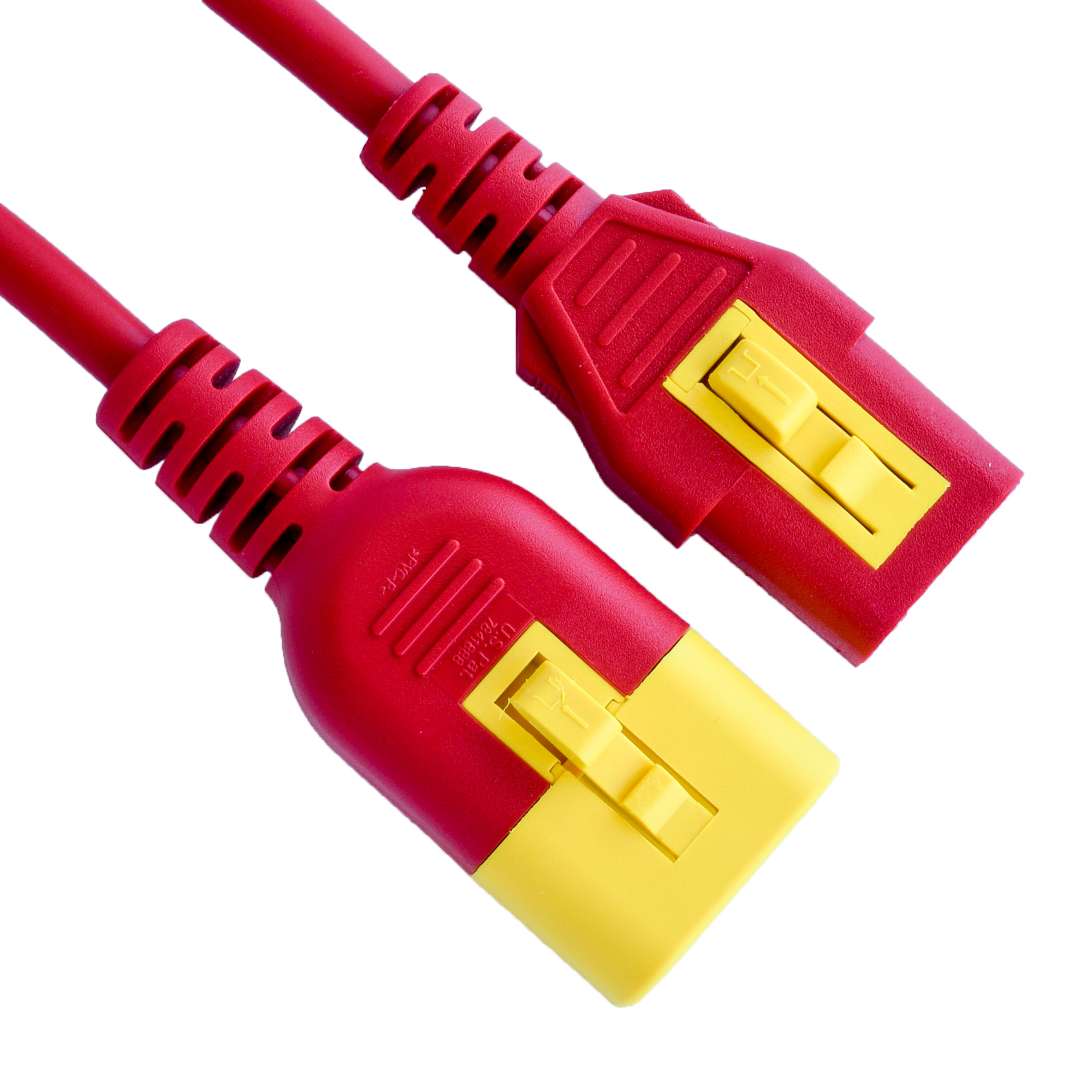 10A V-Lock C14 C13 Power Cords - RED