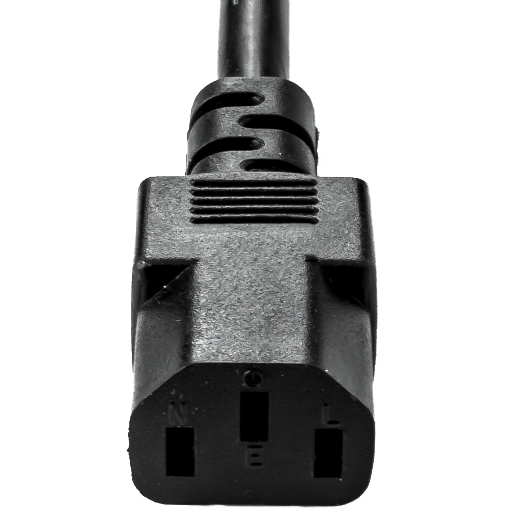 13A C14 C13 16awg SJT BLACK Power Cords