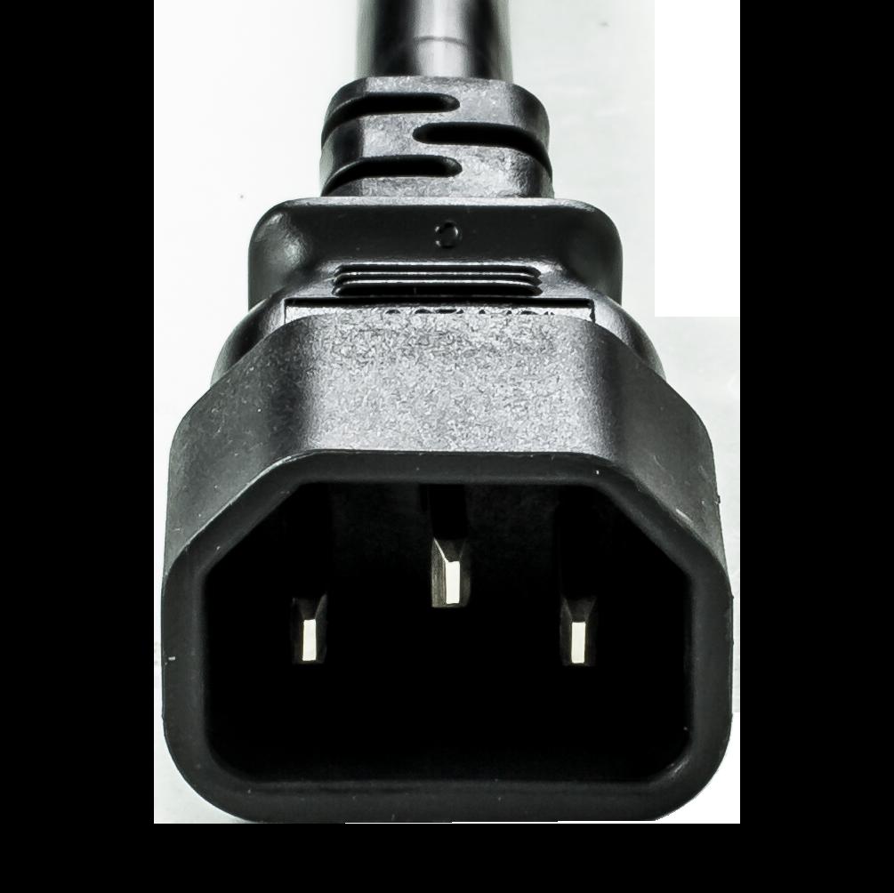 Black 15A C14 C13 Power Cords
