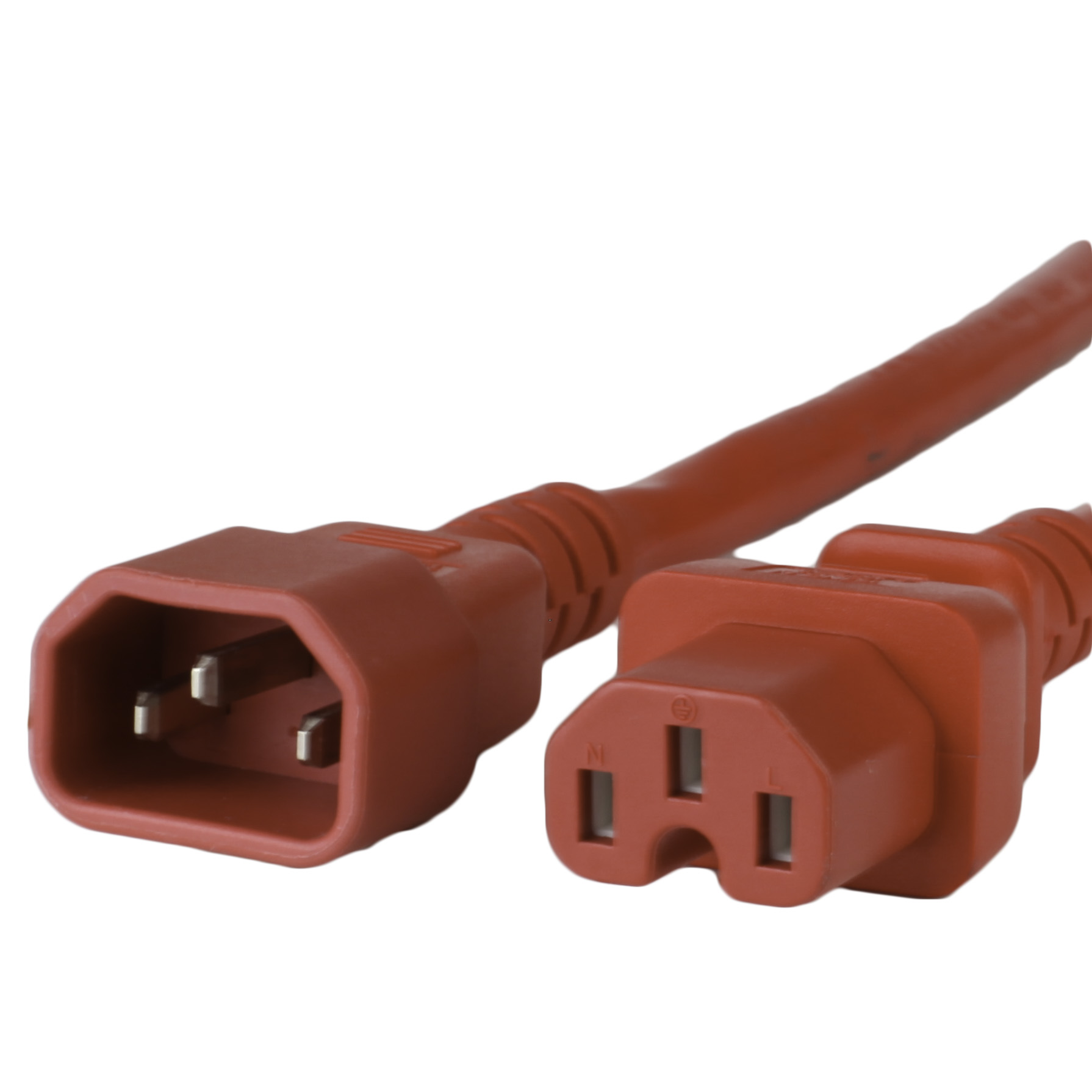 15A C14 C15 Power Cords - RED