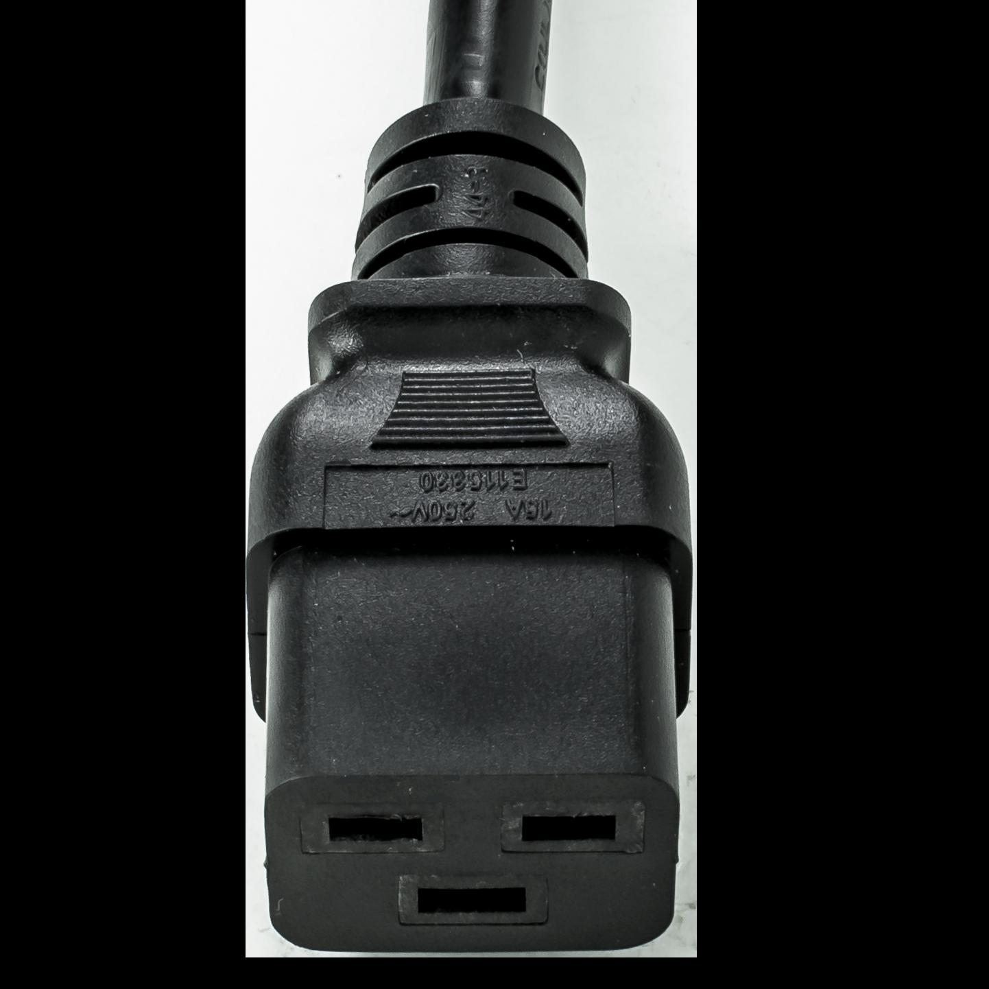 Black 15A C14 C19 Power Cords