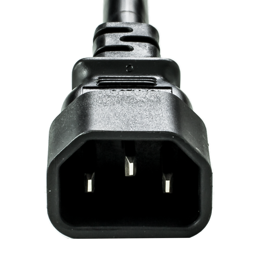 Black 10A C14 C13 Power Cords