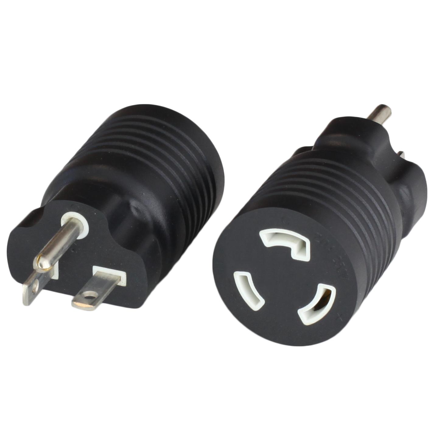Adapter NEMA 6-20P to L6-20R 20A 250V BLACK
