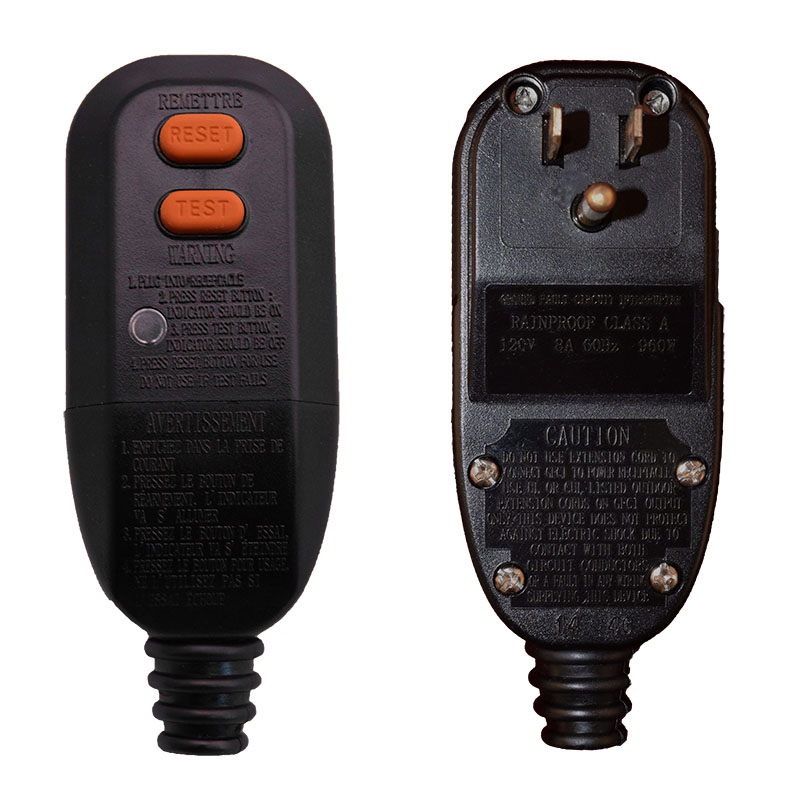 AUTOMATIC RESET - User Attachable GFCI - Plug Head Style