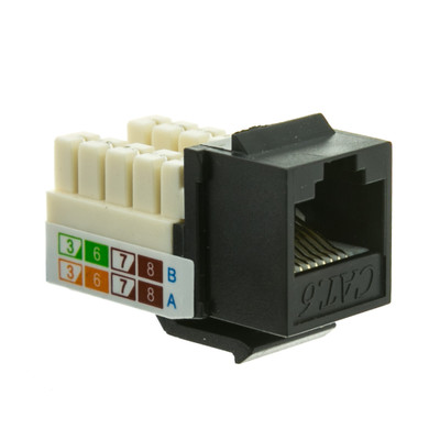 Cat6 Punch Down Keystone Jacks - All Colors