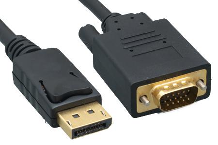 DisplayPort to VGA Cables Black