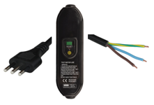 Photo of 2.5m Italy Plug to In-Line RCD to IEC60320 C13 10A 250V 10mA Trip Level Power Cord - BLACK was R3B1-M22A-0120