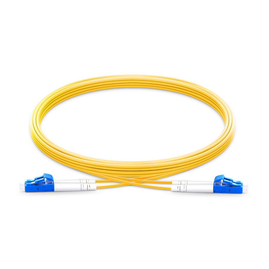 OS2 LC UPC to LC UPC 2.00mm Singlemode Duplex Fiber Optic Cable 3 Meter Yellow