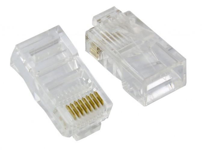 Cat6 Plug Solid w/ Insert 50U 100 pcs / Bag