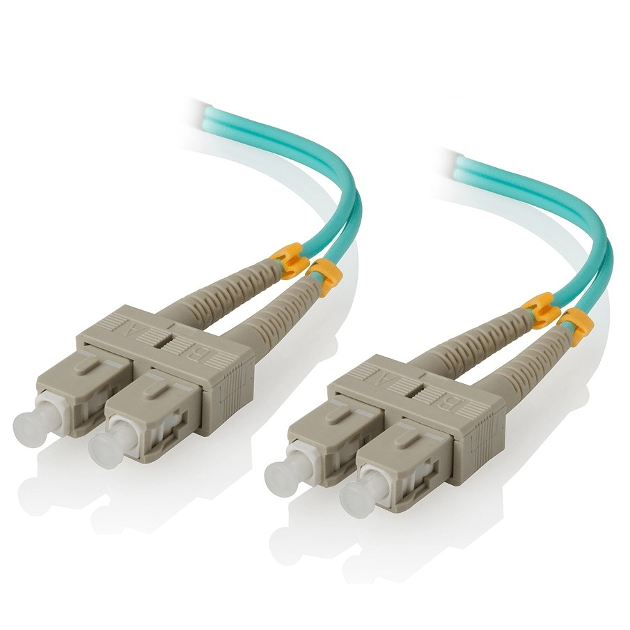 SC to SC, OM3 50/125 Fiber Optic Patch Cable, 2M