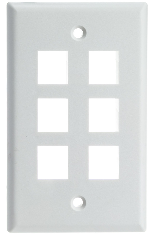Wall Plate for Keystone (1-6 Ports)