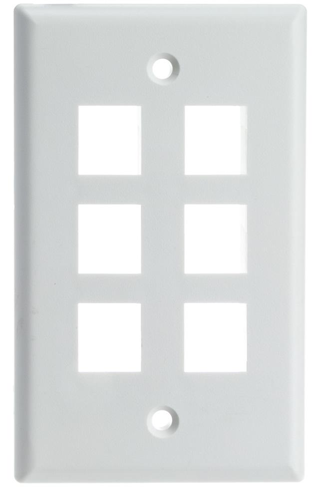 Wall Plate for Keystone (1-6 Ports)